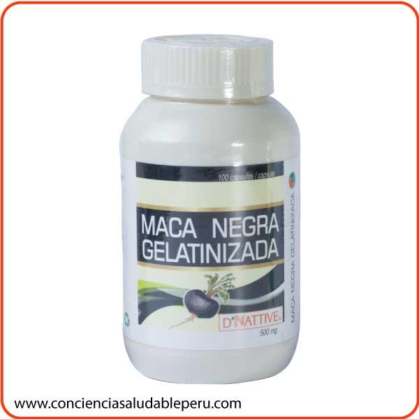 maca negra gelatinizada capsulas